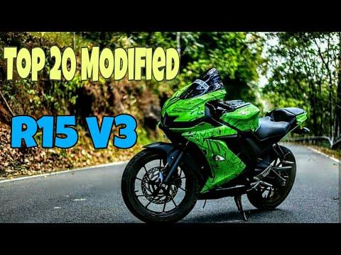 Top 20 modified YAMAHA R15 V3 | ek dam latest hai bhai| - смотреть