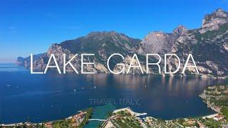 Lake Garda, Italy. Aerial view Lake Garda.