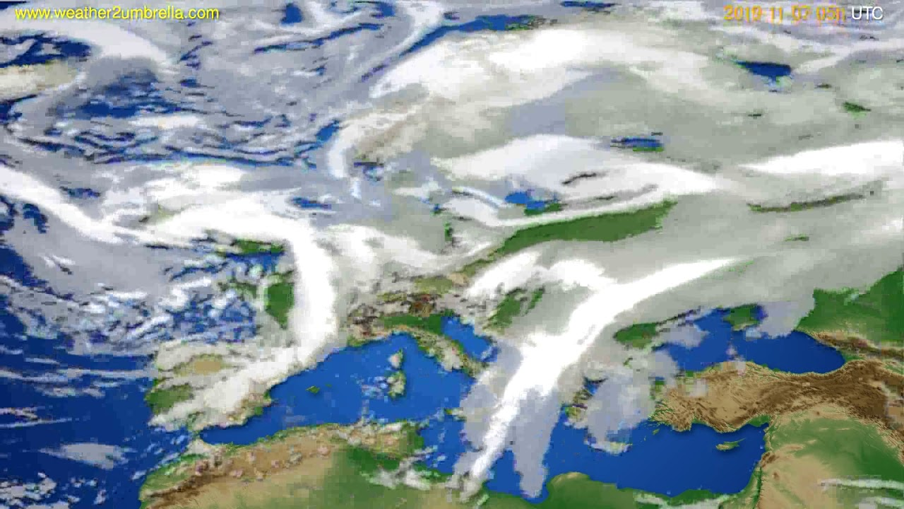 Cloud forecast Europe // modelrun: 00h UTC 2019-11-06
