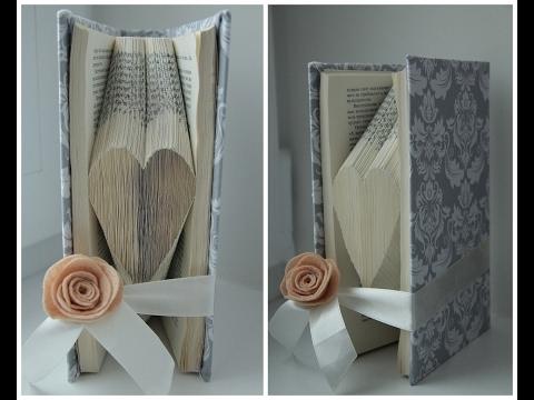 СЕРДЦЕ в книге. Book folding art. ПОДАРОК СВОИМИ РУКАМИ на день Святого Валентина. DIY ВАЛЕНТИНКА
