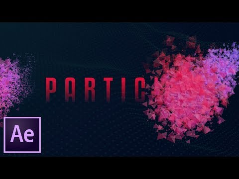 Particle Text/Logo Reveal Effect! After Effects Tutorial (NO PLUGINS!)
