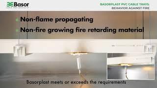 Basorplast PVC cable trays  Behavior against fire final