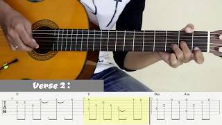 LOVE OF MY LIFE - Queen - Fingerstyle Guitar Cover - Tutorial TAB.
