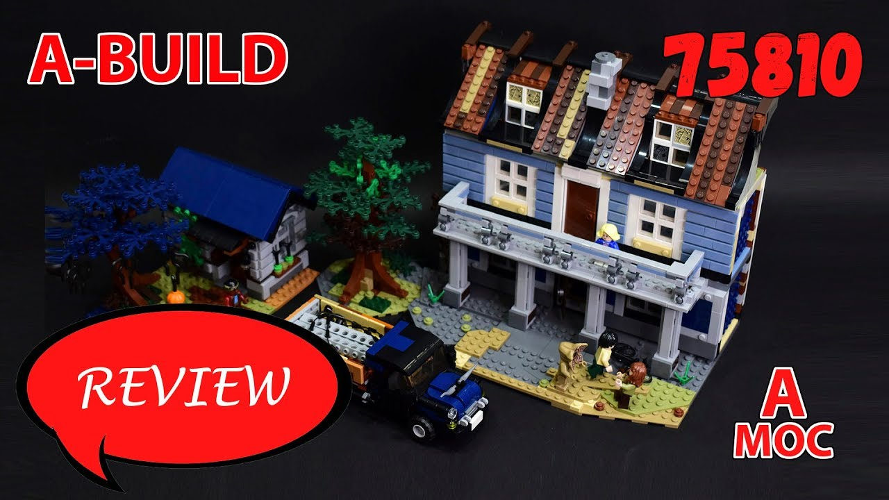 House in Silent Hill style. LEGO 75810 Stranger things Alternate build review [A MOC]