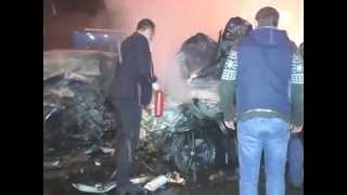 Страшное Лобовое Столкновение  Спасатели Больше Часа Вырезали Зажатого Водителя Mercedes