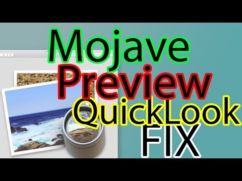 Mojave Preview and QuickLook not working FIX Hackintosh