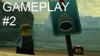 "LEGO City Undercover - Gameplay ""Shark Attack"" (Wii U)"