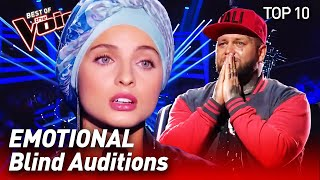 TOP 10 | MOST EMOTIONAL Blind Auditions in The Voice that made the Coaches cry