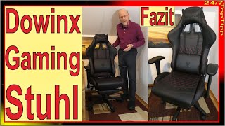 Dowinx Gamer Stuhl ✔ Sitzprobe & Fazit [ rote Ziernähte, Carbon Optik ] Gaming Stuhl TopTipp Review