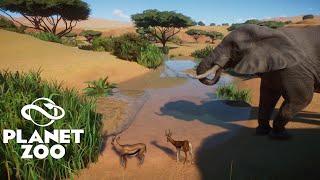 Planet Zoo - African Savannah Habitat - Lions, Hyenas, Cheetahs, Elephants and more! - Speed Build