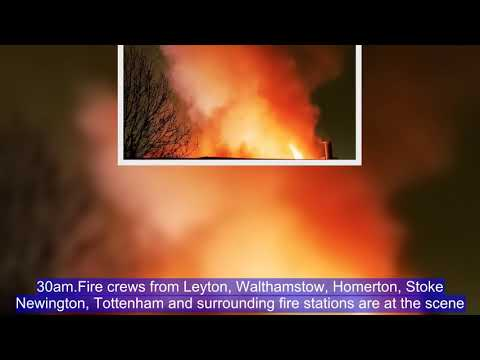 BREAKING: Fire crew rush to BLAZING inferno in Leyton, east London