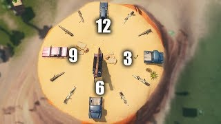 Fortnite Challenge - visit different clocks ALL clock locations