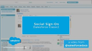Social Sign-On (Salesforce Classic)