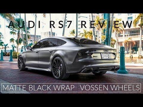 2015 Audi RS7 Prestige Review | Matte Black Wrap | Vossen Wheels