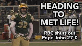 Red Bank Catholic 27 Pope John 0 | NP Group 3 Semis | Caseys Defense 6 sacks