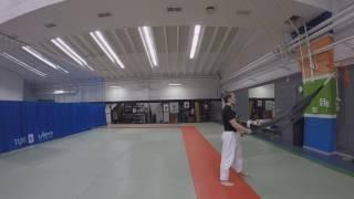 дзюдо. работа с резиной. judo. judo uchikomi bands