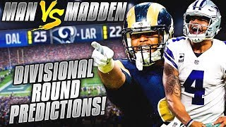 Predicting Every NFL Divisional Round Winner... IT'S LIT! DO YOU AGREE??? | Man vs Madden 2018