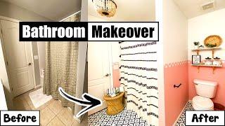 Bathroom Makeover Under $300  - DIY Bathroom Remodel On A Budget