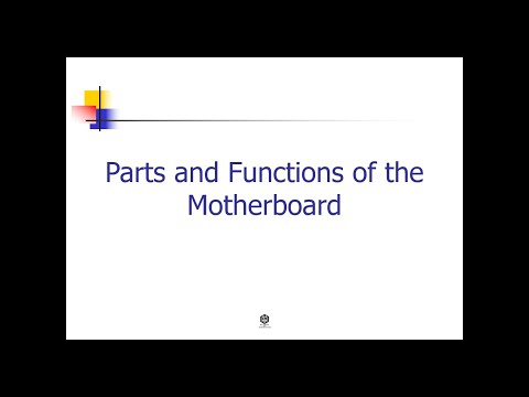 Parts and Functions of the Motherboard