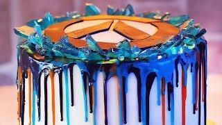 Overwatch Anniversary Drip Cake
