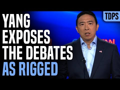 Andrew Yang Exposes Debates as 100% Rigged