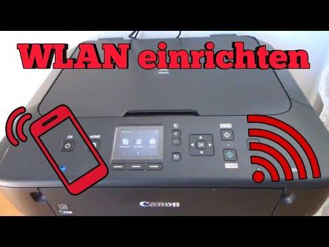 Canon Pixma MG5650 WLAN Drucker einrichten Wifi Drucker installieren Handy mit Drucker verbunden