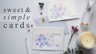 Beautiful 15 Minute Watercolor Greeting Cards