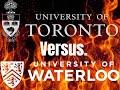 UofT vs Waterloo door Frame 1 jaar gele