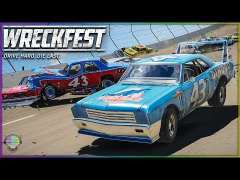 The King's Wing is Back! | Wreckfest | NASCAR Legends Mod - Talladega