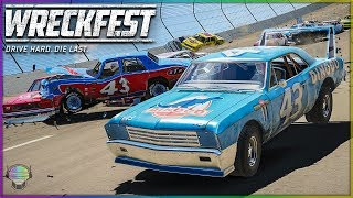 The King's Wing is Back!   Wreckfest   NASCAR Legends Mod - Talladega