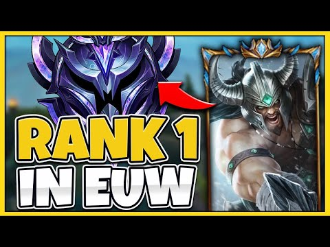 #1 TRYNDAMERE WORLD VISITS EUW FOR THE FIRST TIME (INSANELY TOXIC) - League of Legends