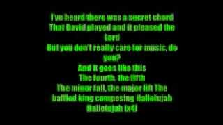Hallelujah rufus wainwright (Shrek soundtrack) with lyrics