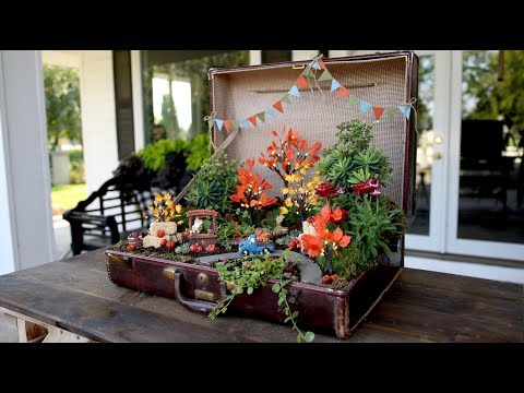 Old Suitcase Turned Pumpkin Patch Miniature Garden! 🎃🌿// Garden Answer