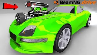 BeamNG Drive with the biggest supercharger