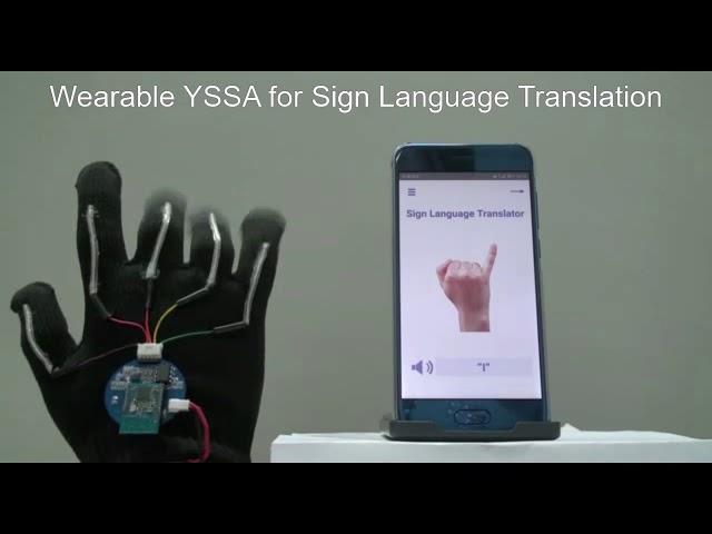 Беспроводная сенсорная перчатка переведет язык жестов в привычные слова