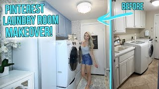 Ultimate Laundry Room Makeover! *Pinterest Inspired