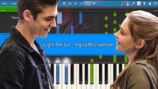 [After Movie Soundtrack] Light Me Up   Ingrid Michaelson || Synthesia Piano Tutorial