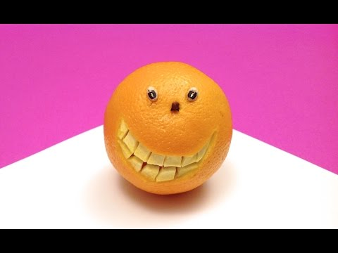 Comment faire une orange souriante?