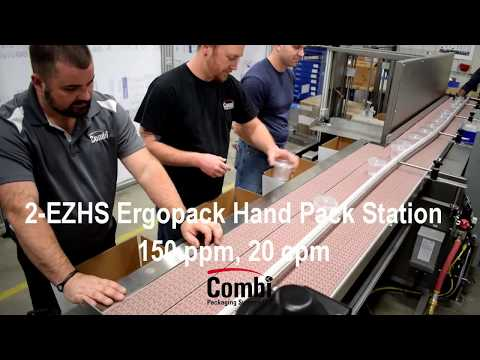 2-EZ HS Ergopack 3 Person Pack Station for Yogurt Cups