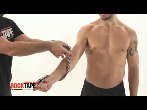 RockTape - Тейпирование локтевого сустава спиралевидным способом