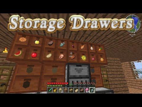 Storage Drawers Mod Showcase (Minecraft 1.12.2)