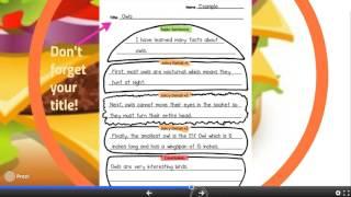 Hamburger Paragraph Writing in Second Grade