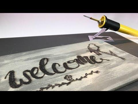 Türschild Brandmalerei - Speed Art - ItsCookieArt