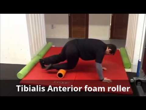 Tibialis anterior foam roller