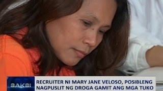 Saksi: Recruiter ni Mary Jane Veloso, posibleng nagpuslit ng droga gamit ang mga tuko