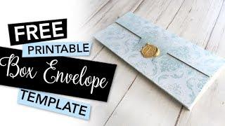 FREE Printable Box Envelope Template | FREEBIE