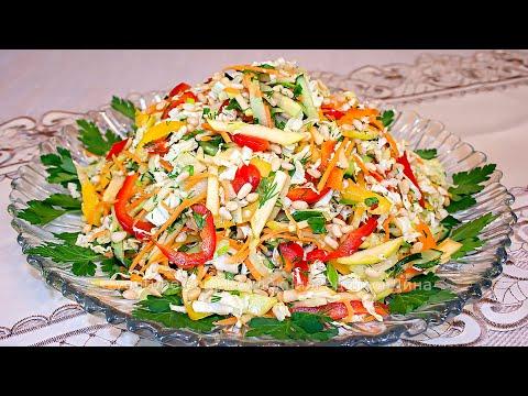 Постный салат с пекинской капустой «Весеннее настроение» - Вкусный постный рецепт!