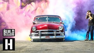 Rainbow Burnout Madness - Ford Victoria Breaks Donut Garage World Record