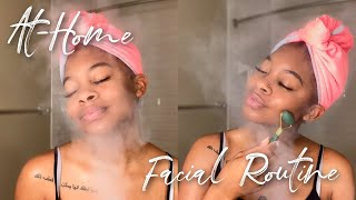 At-Home Facial Routine / Glowy Skin Tips!
