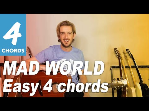 Mad World Gary Jules Easy Beginner Song Guitar Lesson Bs 302 How To Play
